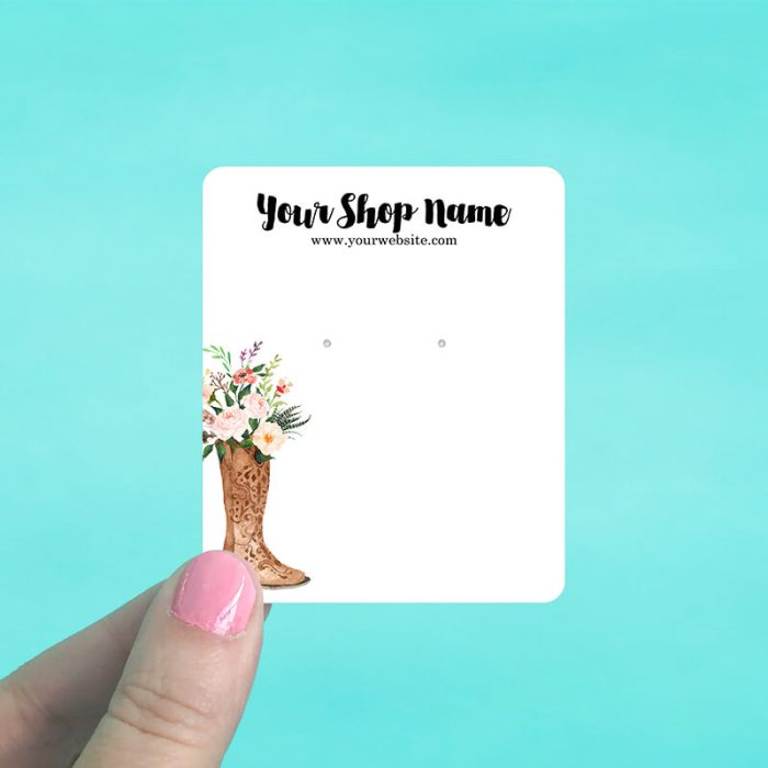 Western Boot Bouquet Jewelry Display Cards