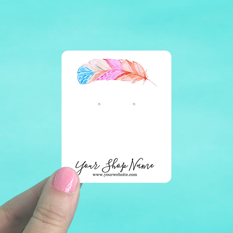 Bright Feather Jewelry Display Cards