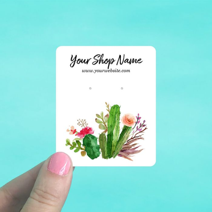Desert Cactus Jewelry Display Cards
