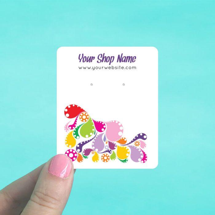 Splash of Color Jewelry Display Cards