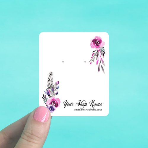 Dark Floral Jewelry Display Cards