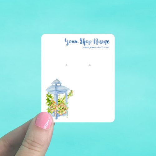 Succulent Lantern Jewelry Display Cards
