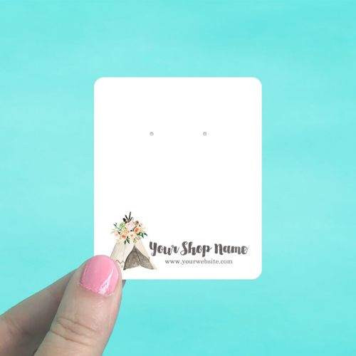 Floral Teepee Jewelry Display Cards