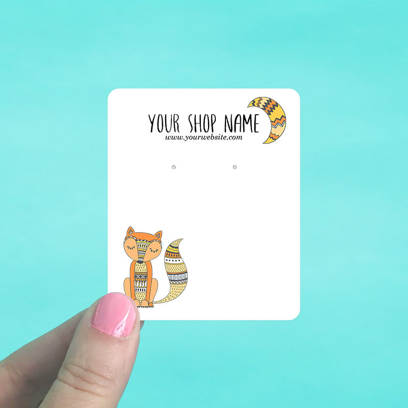 Tribal Fox Jewelry Display Cards