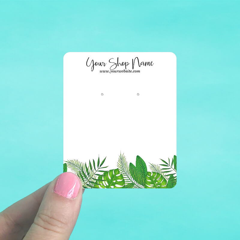 Green Tropical Jewelry Display Cards