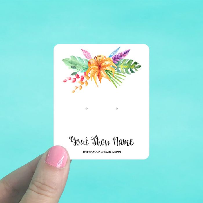 Tropical Bouquet Jewelry Display Cards