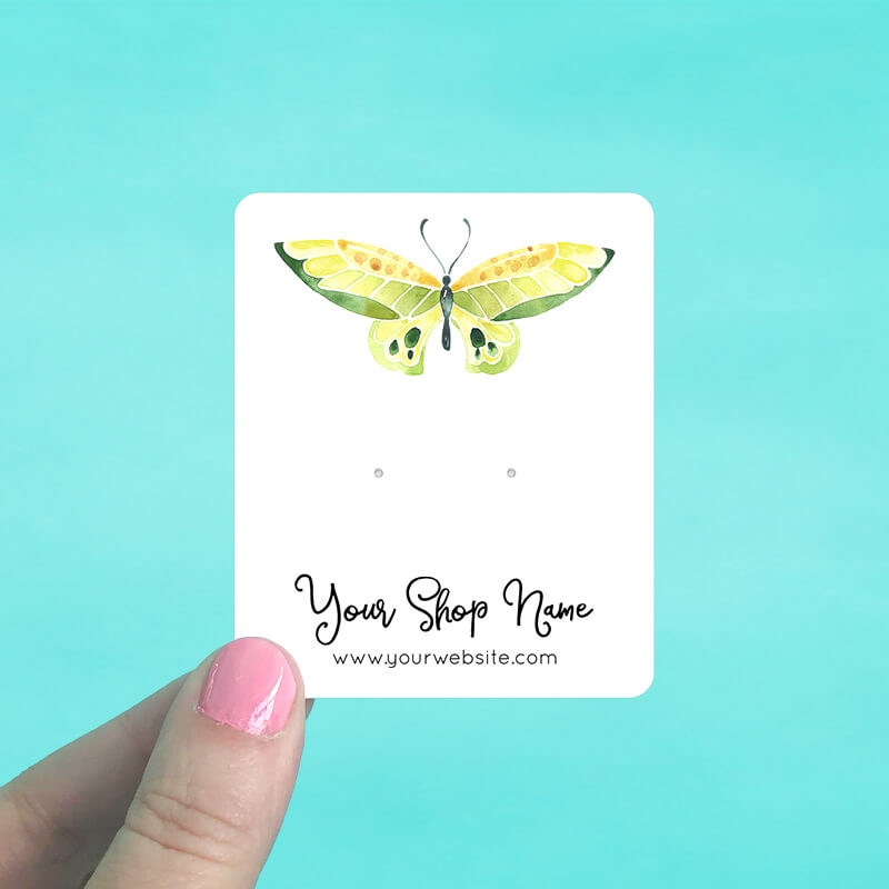 Yellow Butterfly Jewelry Display Cards