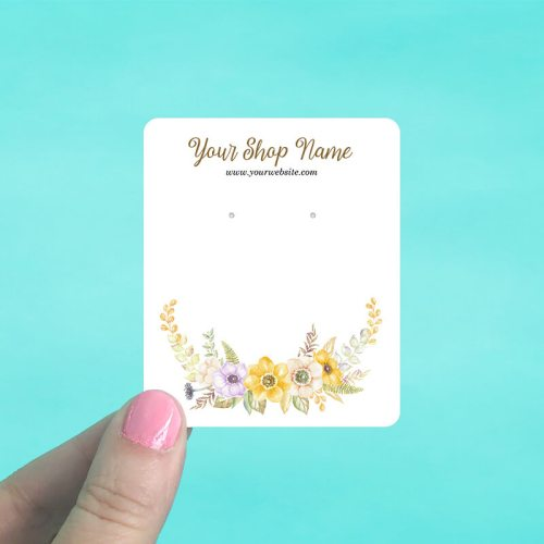 Yellow Floral Jewelry Display Cards