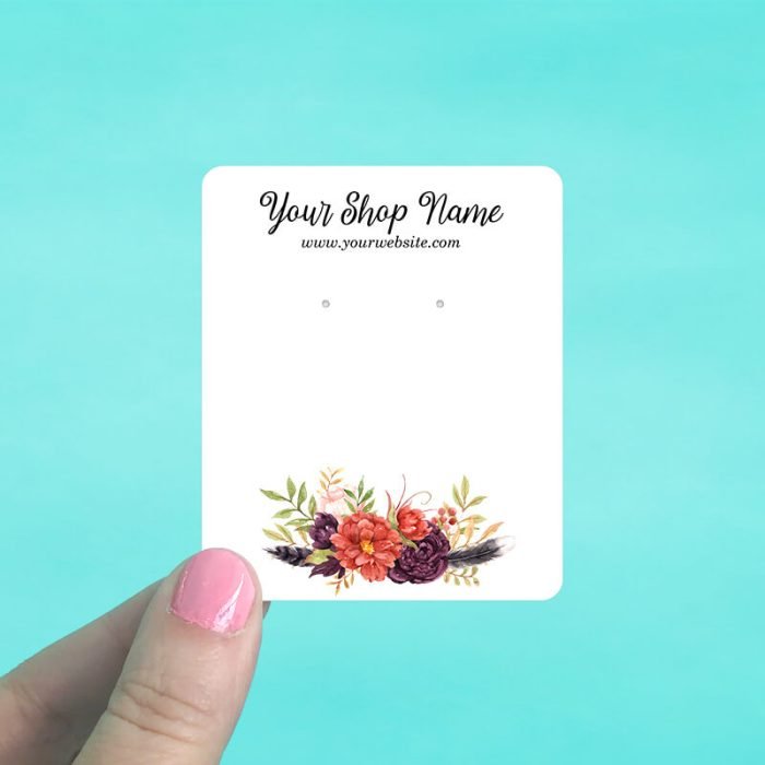 Summer Floral Jewelry Display Cards