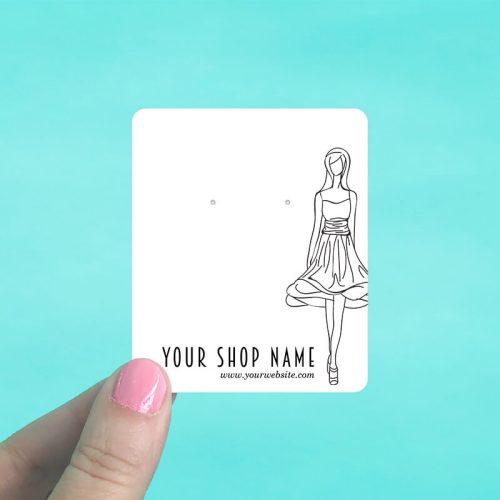 Fashion Girl Jewelry Display Cards