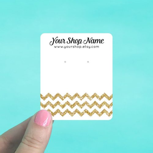 Glitter Chevron Jewelry Display Cards