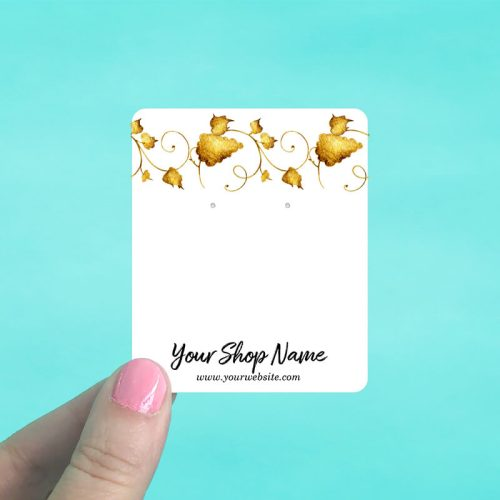 Gold Leaves Jewelry Display Cards
