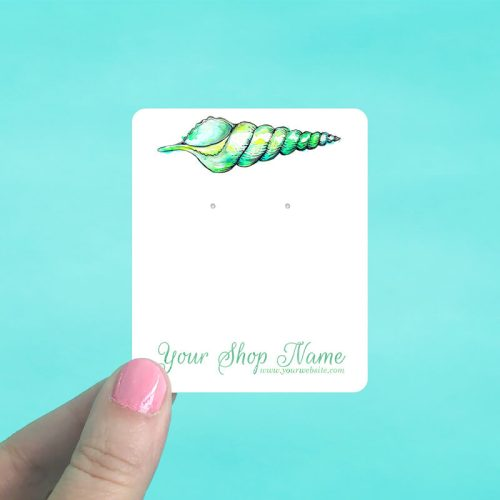 Green Shell Jewelry Display Cards