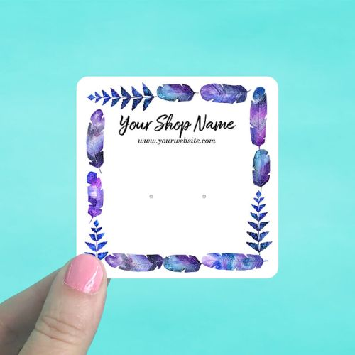 Indigo Feather Frame Display Cards