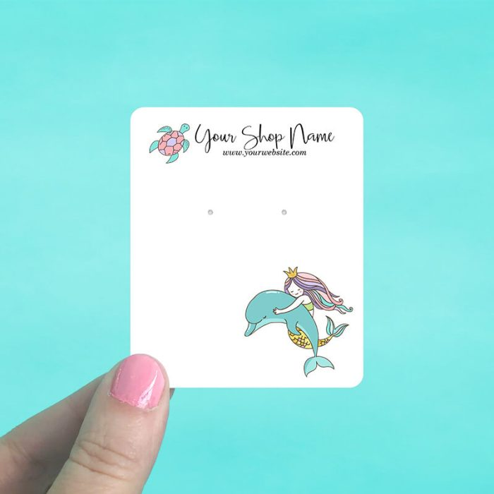 Mermaid & Dolphin Display Cards