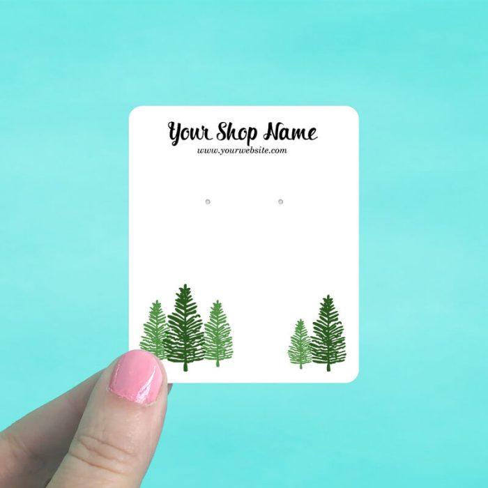 Pine Trees Jewelry Display Cards