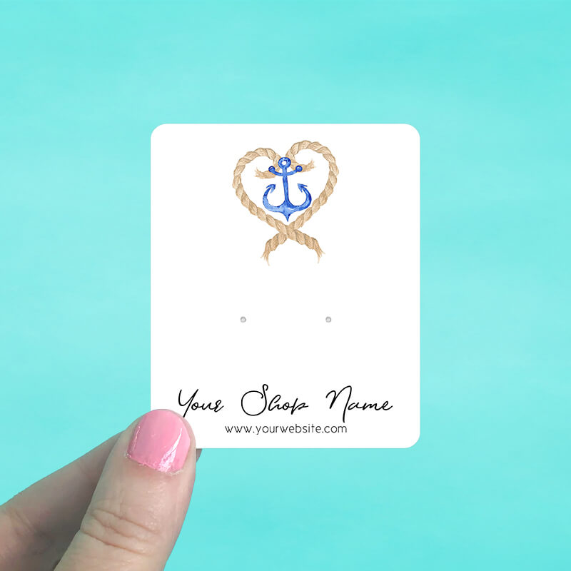 Anchor Heart Jewelry Display Cards