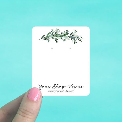 Green Branch Jewelry Display Cards