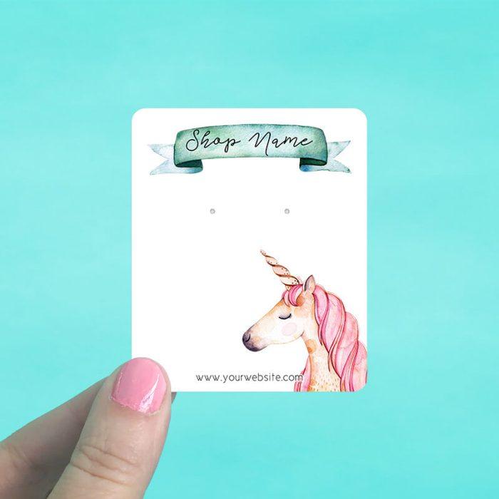 Unicorn Banner Jewelry Display Cards