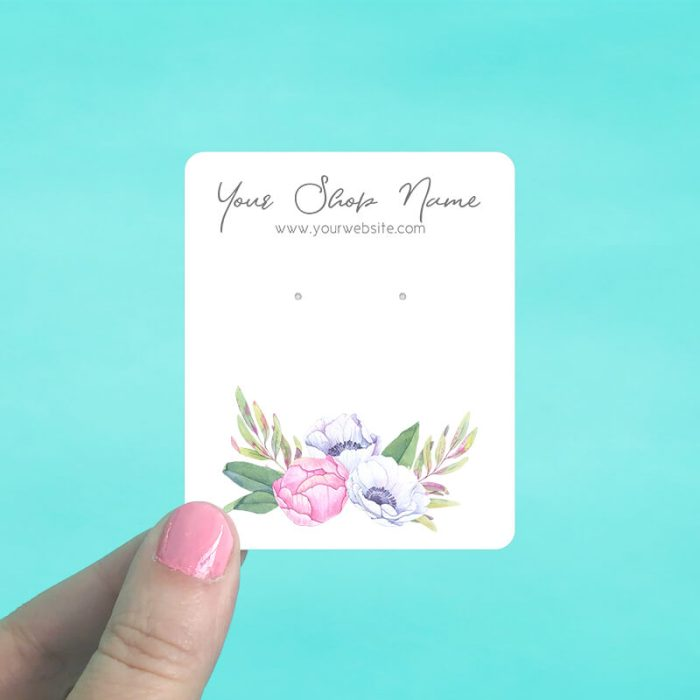 Pastel Floral Bouquet Jewelry Display Cards