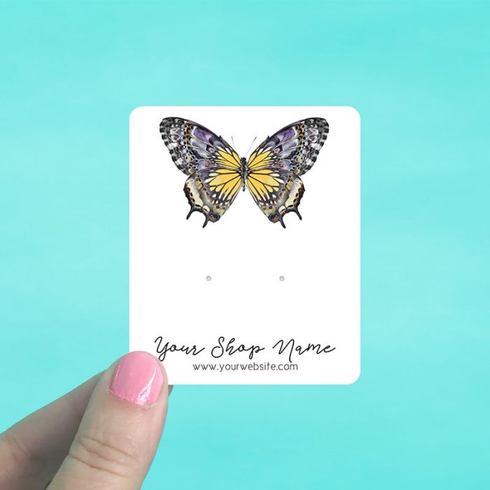 Beautiful Butterfly Jewelry Display Cards