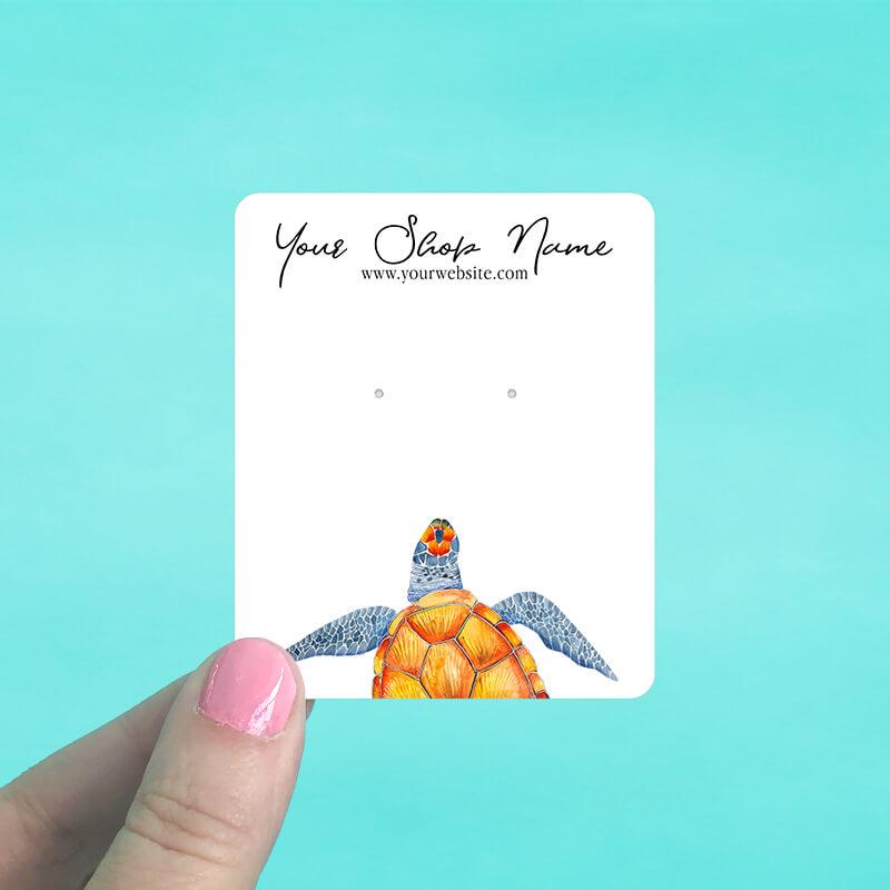 Sea Turtle Jewelry Display Cards