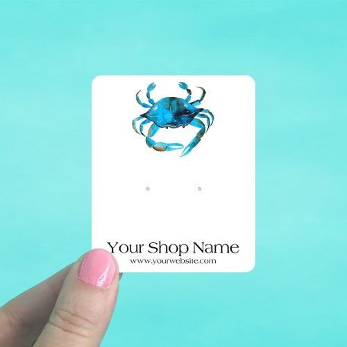 Ocean Crab Jewelry Display Cards
