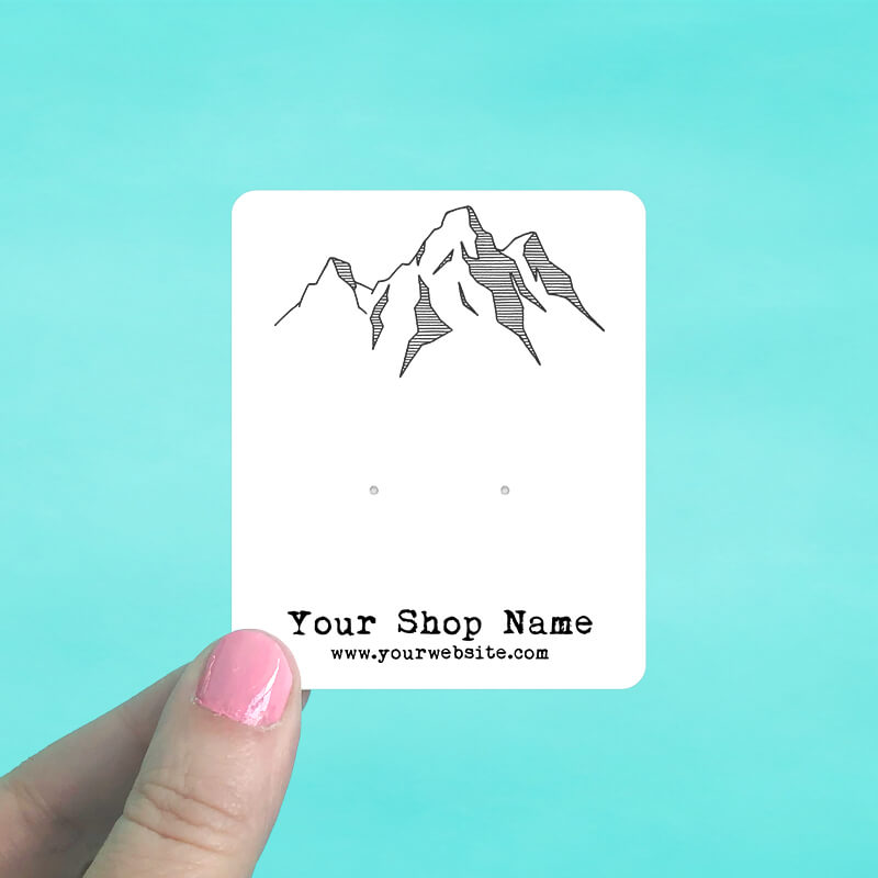 Mountain Range Jewelry Display Cards