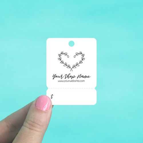 Heart Vine Tear Off Hang Tags