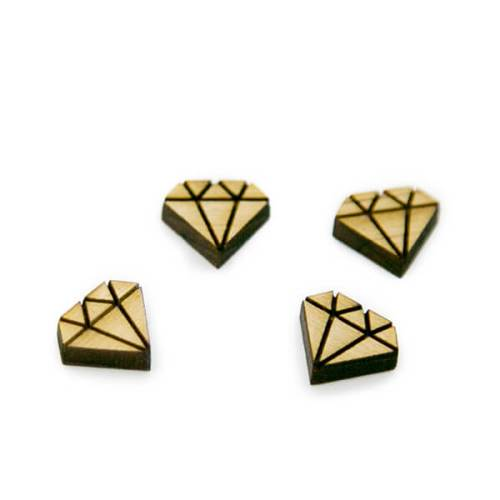 Diamond Wood Cabochon