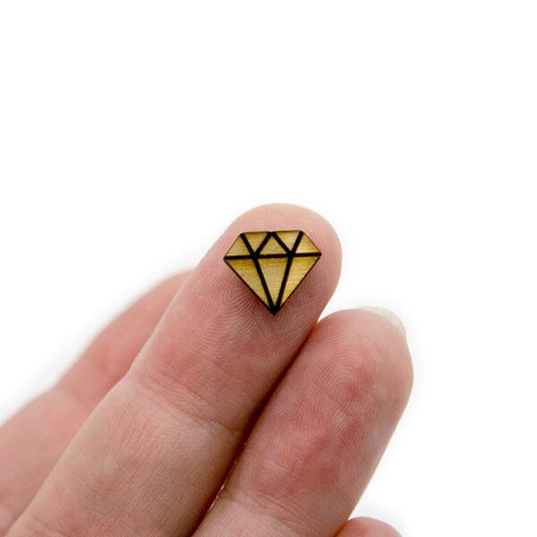 Diamond Wood Cabochon