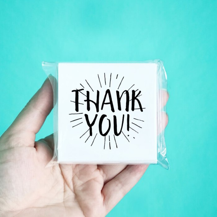 Burst Mini Thank You Note Cards