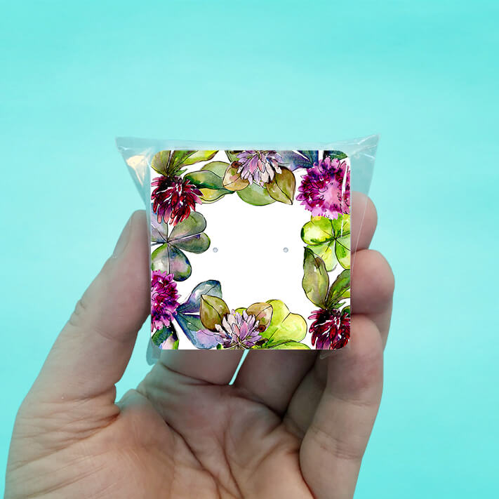 Clover Stud Earring Cards