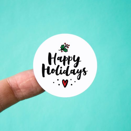 Happy Holidays Stickers