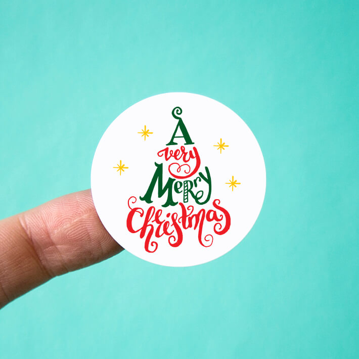 A Very Merry Christmas Stickers