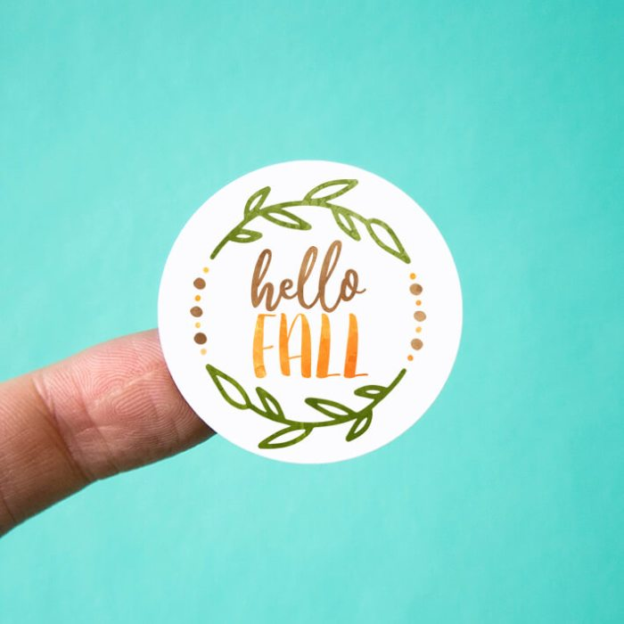 Hello Fall Stickers