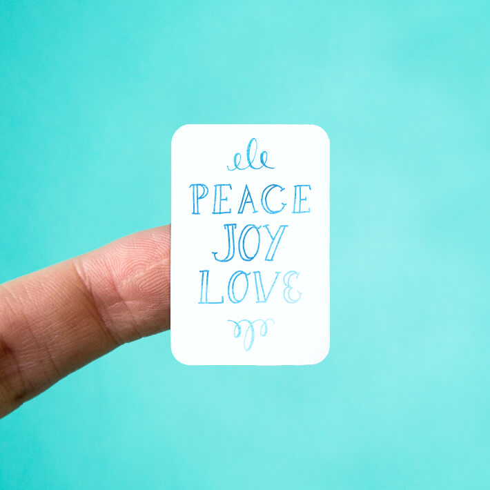 Peace Joy Love Stickers