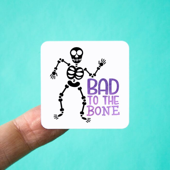 Bad to the Bone Halloween Stickers