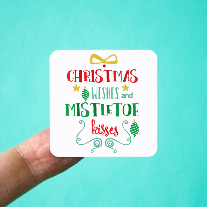 Christmas Wishes & Mistletoe Kisses Stickers