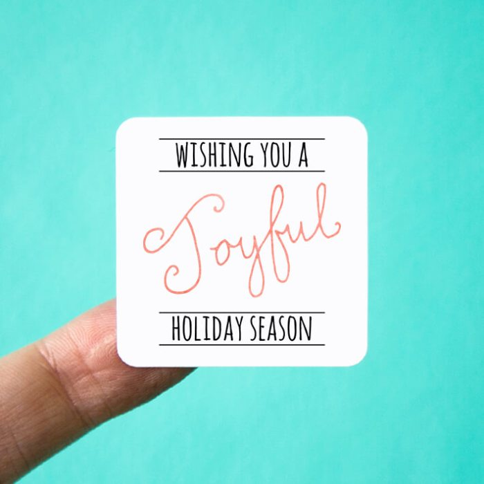 Wishing You a Joyful Holiday Season Stickers