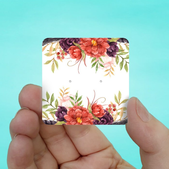 Fall Floral Stud Earring Cards