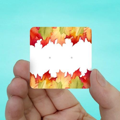 Fall Leaves Stud Earring Cards