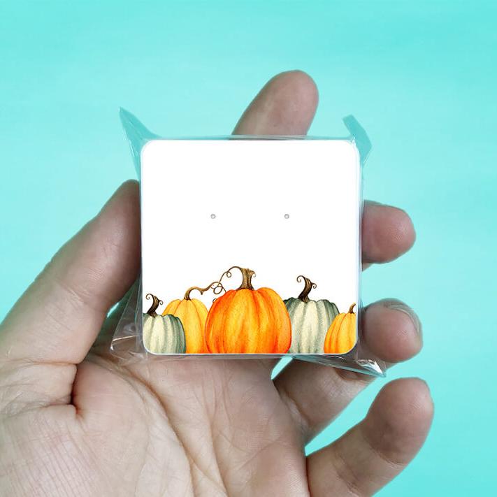 Fall Pumpkins Stud Earring Cards