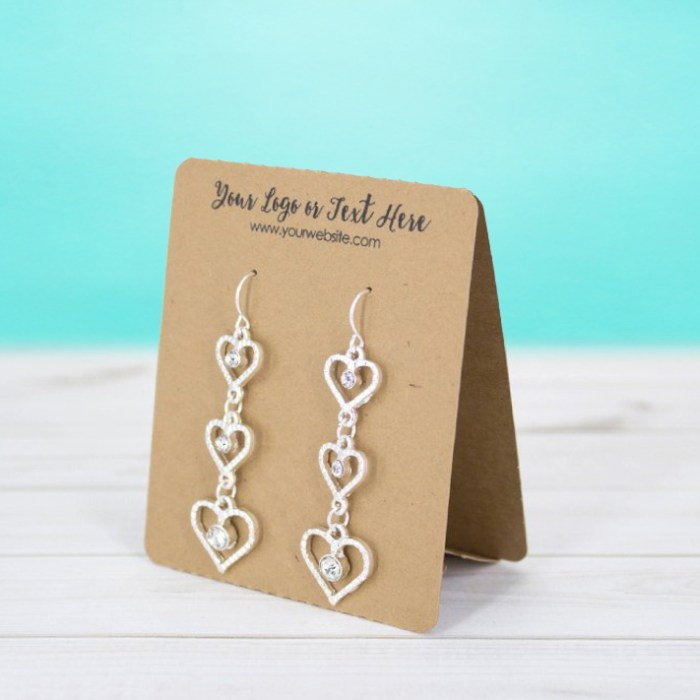 Standing Tent Jewelry Cards