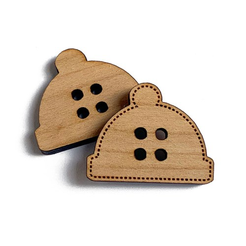 Hat Wooden Buttons