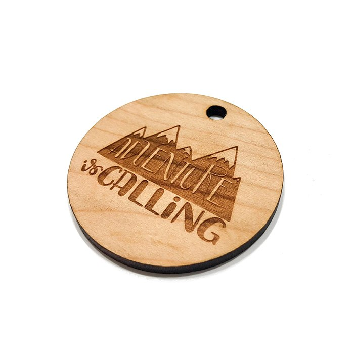 Adventure is Calling Wooden Charms