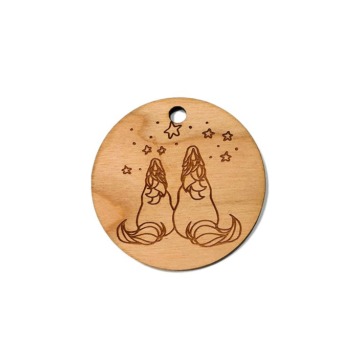 Unicorn Friends Wooden Charms