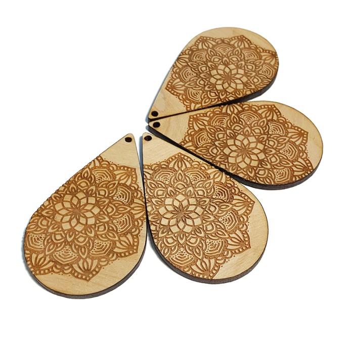 Large Mandala Wooden Drops