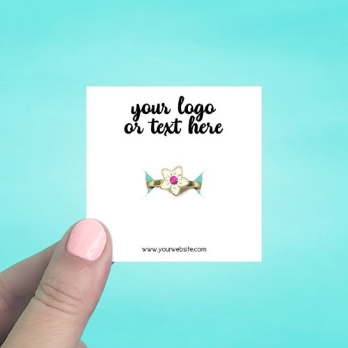 "Set of 70 2.5 x 2.5"" Square Ring Display Cards"
