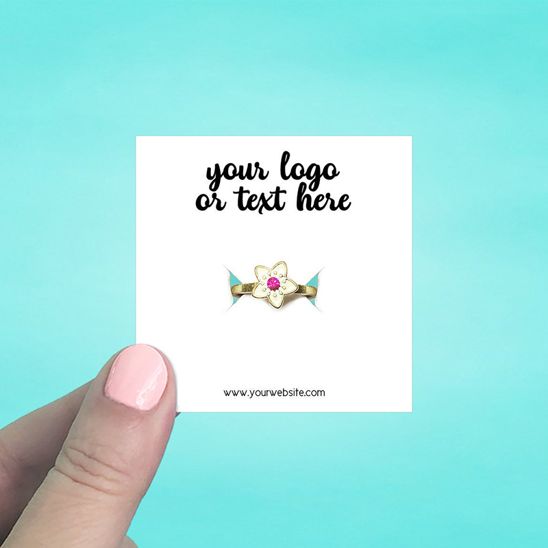 """Set of 70 2.5 x 2.5"""" Square Ring Display Cards"""